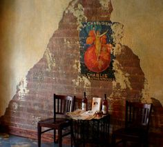 : Faux Painting Techniques for Walls - Home Improvement and Remodeling Ideas Faux Brick Walls, Stucco Walls, Wood Walls, Faux Painting Walls, Paint Walls, Decoration, Art Decor, Vintage French Posters, French Vintage