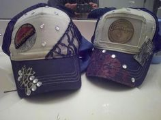 Cute lace, bling and cheetah print! Trucker hats! By http://www.facebook.com/DoubleSRodeoCo