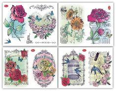 Viva Decor Stempel - Blumen Collage