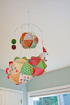 Photo Globe Mobile Tutorial. Very cute idea for nursery. #baby, #mobile, #nursery, #DIY