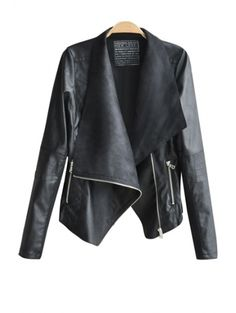 SHARE & Get it FREE   Turn-Down Collar Black PU Leather JacketFor Fashion Lovers only:80,000+ Items • New Arrivals Daily Join Zaful: Get YOUR $50 NOW!