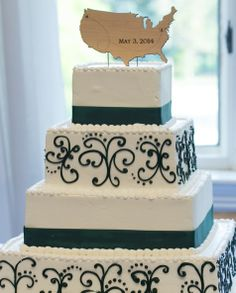 Travel-themed Cake Topper | The Pros | Theknot.com