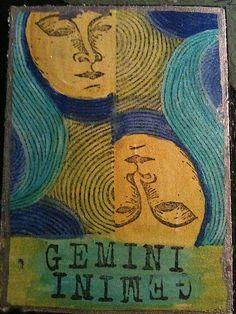 Modern Gemini art print.  Get in-depth info on Gemini traits & personality @ http://www.buildingbeautifulsouls.com/zodiac-signs/western-zodiac/gemini-star-sign-traits-personality-characteristics/