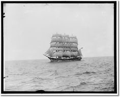 From our wonderful maritime history: Four-masted sailing ship.