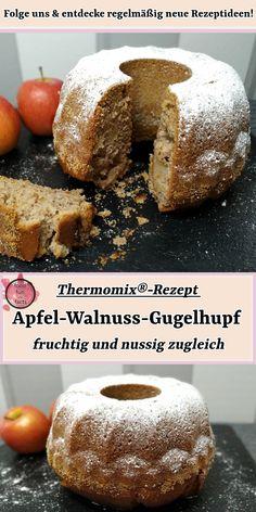 Dieser Gugelhupf verbindet einen tollen, nussigen Geschmack mit fruchtigen Äpfeln. Ich hoffe, er schmeckt Euch genauso gut wie uns! Dieses und weitere Thermomix®-Rezepte findest du auf unserem Blog! #gugelhupf#gugelhupfsaftig#gugelhupfsaftignuss#apfel#walnuss#fruchtig#nussig#thermomix#thermomixrezept#rezept#foodblog#foodblogger