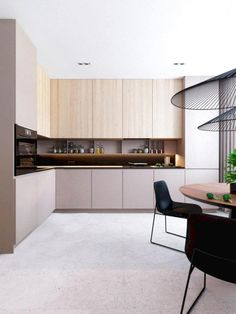 Best Kitchen Designs With Tones Of Vibrant Colors Ideas Kitchen Dinning, Home Decor Kitchen, Rustic Kitchen, Kitchen Furniture, Home Kitchens, Grey Kitchen Designs, Contemporary Kitchen Design, Interior Design Kitchen, Minimalist Kitchen Cabinets