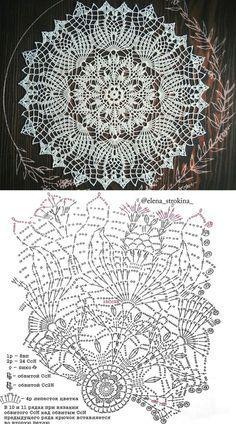 Doilies Crafts, Lace Doilies, Crochet Doilies, Crochet Lace, Free Crochet Doily Patterns, Crochet Doily Diagram, Knitting Patterns, Crochet Tablecloth Pattern, Thread Crochet