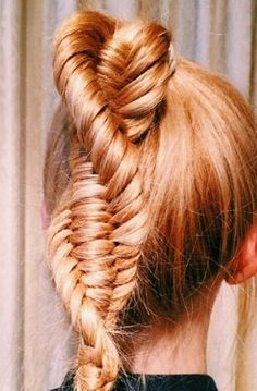 Double fishtail braided ponytail