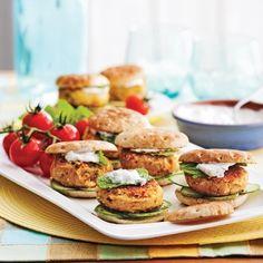 Mini-burgers falafels - Recettes - Cuisine et nutrition - Pratico Pratique