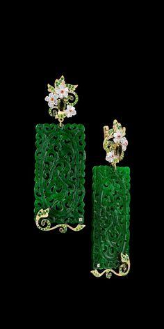 Master Exclusive Jewellery - Kaleidoscope - Green Earrings