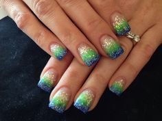 Go Seahawks Nails!!!!