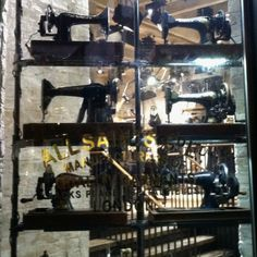 epic window display in SF, every window showcased enough vintage sewing machines to fill the frame.
