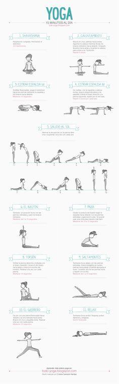 Infografía para practicar Yoga en casa 15 minutos al día