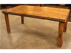 Custom Log Leg Farm Table