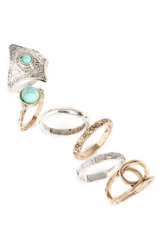 topshop etched rings