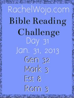 Day 31 Bible Reading Challenge