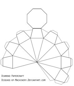 Diamond or Gem Papercraft by Disease-of-Machinery.deviantart.com on @DeviantArt