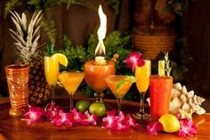 Hawaiian themed drinks