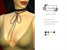 The Sims Resource: Lazo Choker by serenity-cc • Sims 4 Downloads