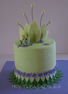 Princess and the Frog cake. Perfect for a special little nieces Birthday.