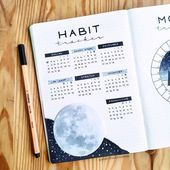 Habit tracker layout ideas for bullet journal. I've rounded up over 100 ideas for you, includes video tutorial on how to create a habit tracker page. Bullet Journal Tracker, Bullet Journal Inspo, Bullet Journal Lettering, Bullet Journal Simple, Bullet Journal Doodles, Bullet Journal Weekly Spread, Bullet Journal Spreads, Bullet Journal Notebook, Bullet Journal Aesthetic