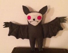 Grey and Fuchsia Spooky Bat