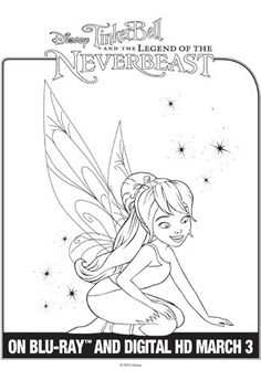 tinkerbell fawn sabrina coloring pages - photo#17