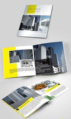 bold color brochure