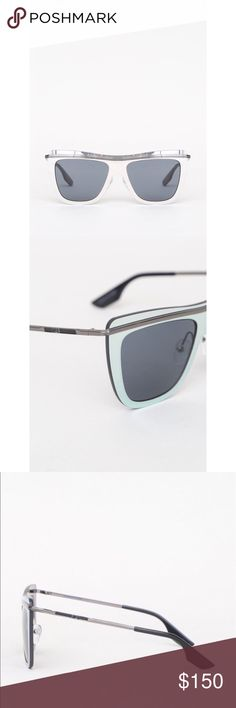 MCQ Alexander McQueen Sunglasses in Ruthenium Grey NWOT | Lightweight | No Case, but I will include leather pouch for casing | Used once for a photoshoot | NO SCRATCHES | Hinges are tight | Super brand new | No hangtags | Unisex McQ by Alexander McQueen Accessories Sunglasses