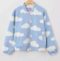 FREE Shipping New Fall 2013 Harajuku Cloud Jacket Bomber