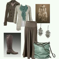 Teal and taupe