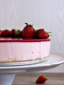 Pradobroty: Jahodové zrcadlo - nepečený tvarohový dort Cheesecake, Blog, Cheese Cakes, Cheesecakes