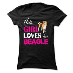 This Girl Loves Her Beagle T Shirts, Hoodies. Get it now ==► https://www.sunfrog.com/Pets/This-Girl-Loves-Her-Beagle--NZ3-Black-n441-Ladies.html?57074 $19