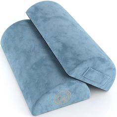 Foot Rest Cushion Under Desk - Pack of Two - Doubles As Back and Knee Support - Half-Moon Ergonomic Memory Foam Footrest Bolster Pillows Tech Gifts For Dad, Gifts For Tech Lovers, Gifts For Techies, Cool Tech Gifts, Gifts For Teens, High End Laptop, Bolster Pillow, Pillows, Bass Headphones