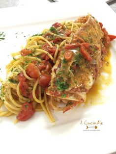 Yummy Pasta Recipes, Spaghetti Recipes, Seafood, Food Porn, Food And Drink, Ethnic Recipes, Pizza, Cooking, Noodle