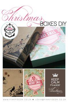 Christmas Boxes - Free Printables | {Printables} | The Pretty Blog