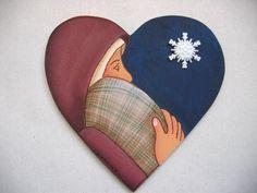 Mary and Baby Jesus Nativity Ornament Tole by barbsheartstrokes,