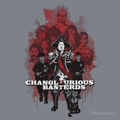 Changlourious Basterds (Any Shirt Colour) by MeganLara