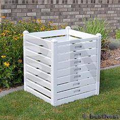 "$128 Dura-Trel Compost Bin, White, 28""W at BestNest.com"