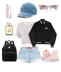 """""""Untitled #1"""" by tuva-l-foreland ❤ liked on Polyvore featuring T By Alexander Wang, Mudd, Converse and Jimmy Choo"""