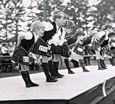 1970 Highland Festival dancers - Alma college - Michigan USA.