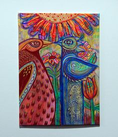 Acrylic painting on canvas board by Sue Thomson/Livingstone Studio..see blog
