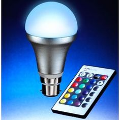 Remote Controlled Colour Changing Light Bulb