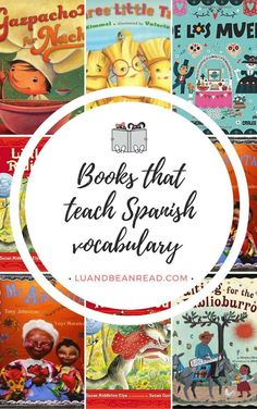 There are many bilingual children& books that teach Spanish vocabulary. Here are our top 6 picture book picks for your budding readers. Spanish Books For Kids, Spanish Lessons For Kids, Preschool Spanish, Elementary Spanish, Spanish Activities, French Lessons, Preschool Literacy, Elementary Teaching, Kindergarten Activities