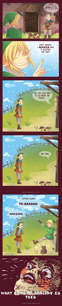 """What Kind of Sorcery is this"" The Legend of Zelda fan art"