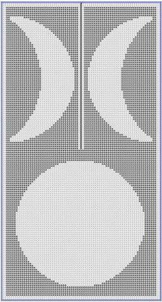 Moon Phase Ruana Filet Crochet Pattern