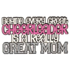 Behind Every Great Cheerleader is a Really Great Mom 5-Layer Laser... ($3.75) ❤ liked on Polyvore