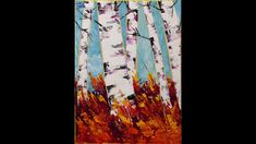 Fall Fantasy Step by Step Acrylic Painting on Canvas for Beginners