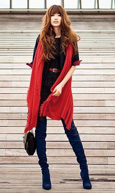 Beautiful red scarf.