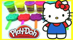 Learn Colors Play Doh Fun Hello Kitty Rainbow Compilation Nursery Rhymes...